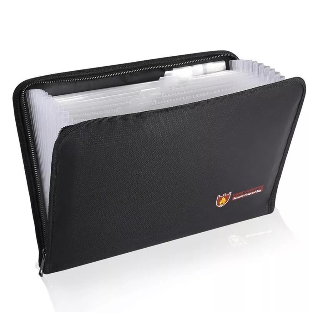 folder-file-pocket, filing Fireproof File Folder Accordion Document Bags 12 Pockets Zipper Closure Pouch Silicone Large Capacity Portable File Bag HOB1750897 1