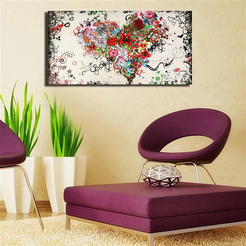 art-kit Hand-painted Modern Abstract Wall Art Painting on Canvas Flower Heart Hanging Picture Living Room Wall Decoration no Frame HOB1750931 3 1