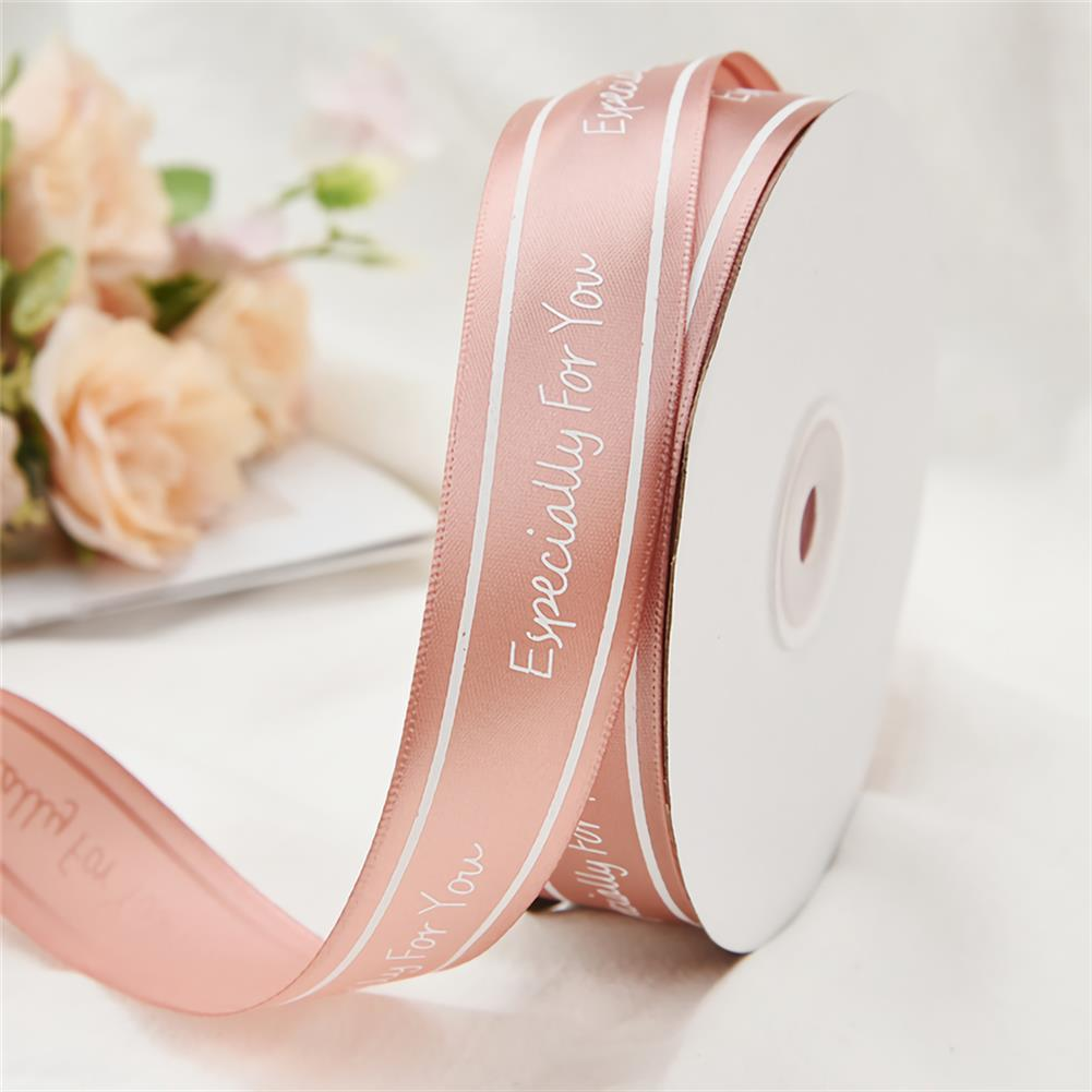 stationery-tape 2.5cm Especially for You Printed Satin Ribbon Gift Flowers Packing Belt for Wedding Party Decorations DIY Crafts Ribbon HOB1750982 2 1