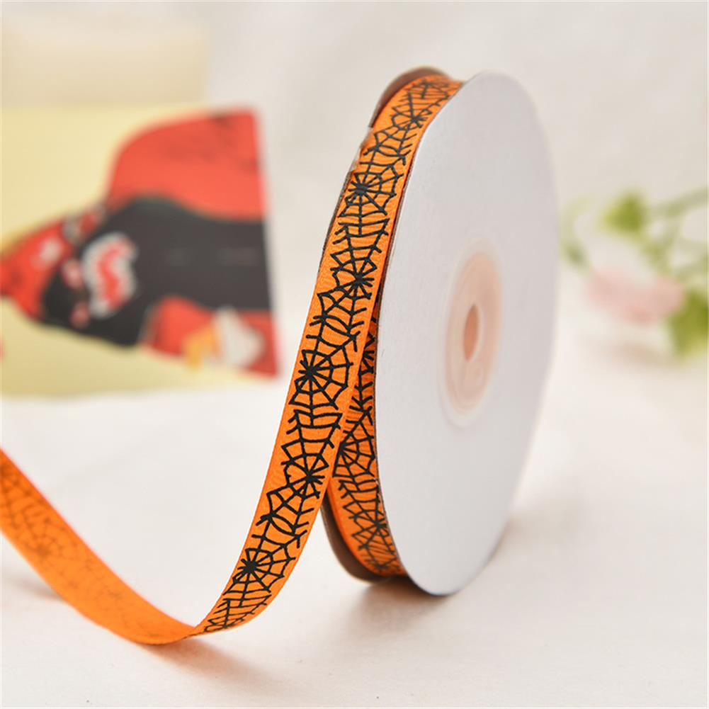 stationery-tape 25 Yards 1cm Halloween Grosgrain Ribbon Printed Ribbons Polyester Ribbon for Wedding Christmas Decoration DIY Handmade HOB1751002 1 1