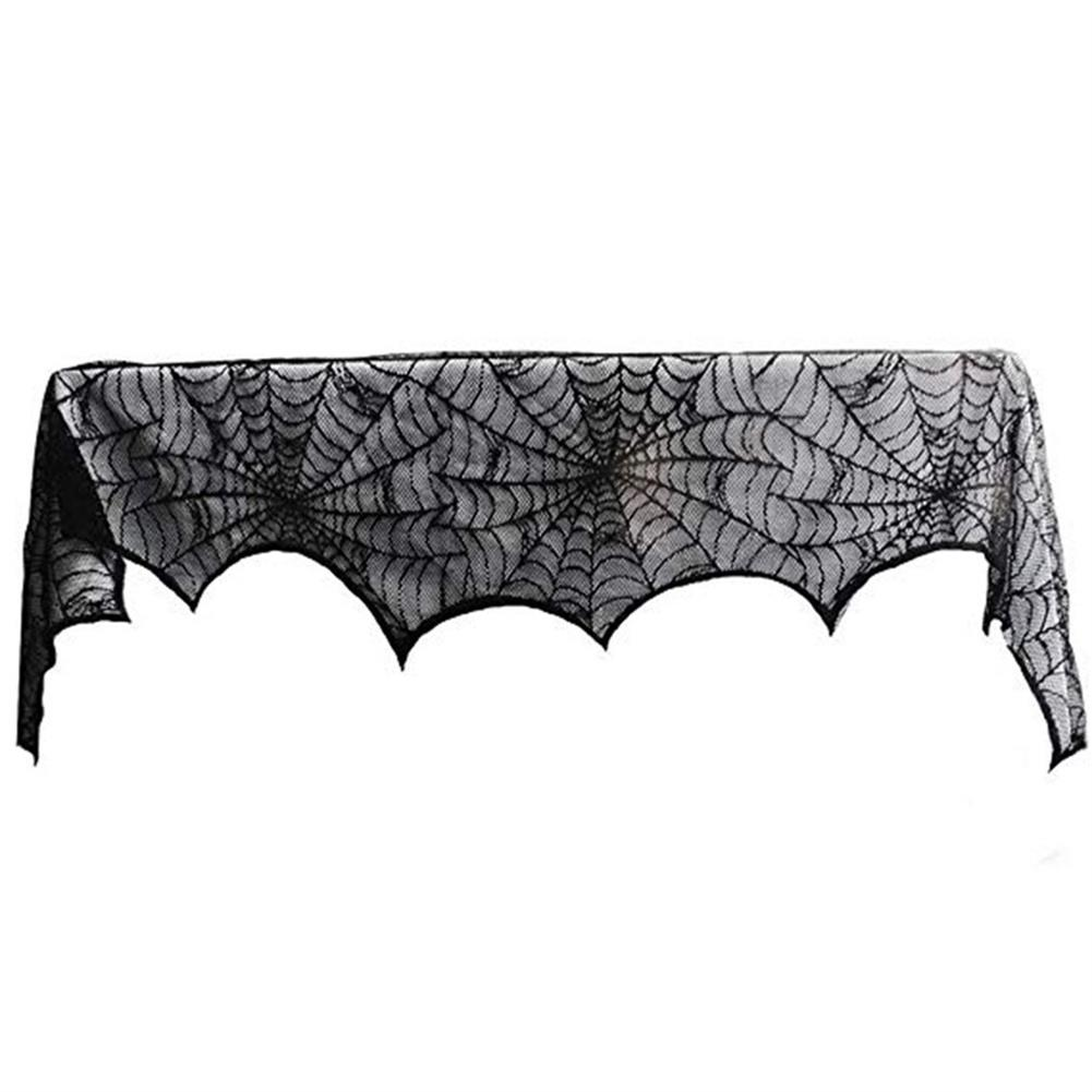 other-learning-office-supplies Halloween Ghost Festival Lace Table Cloth Curtain Black Spider Web Web Tablecloth Halloween Decoration Party Tablecloth HOB1751824 2 1
