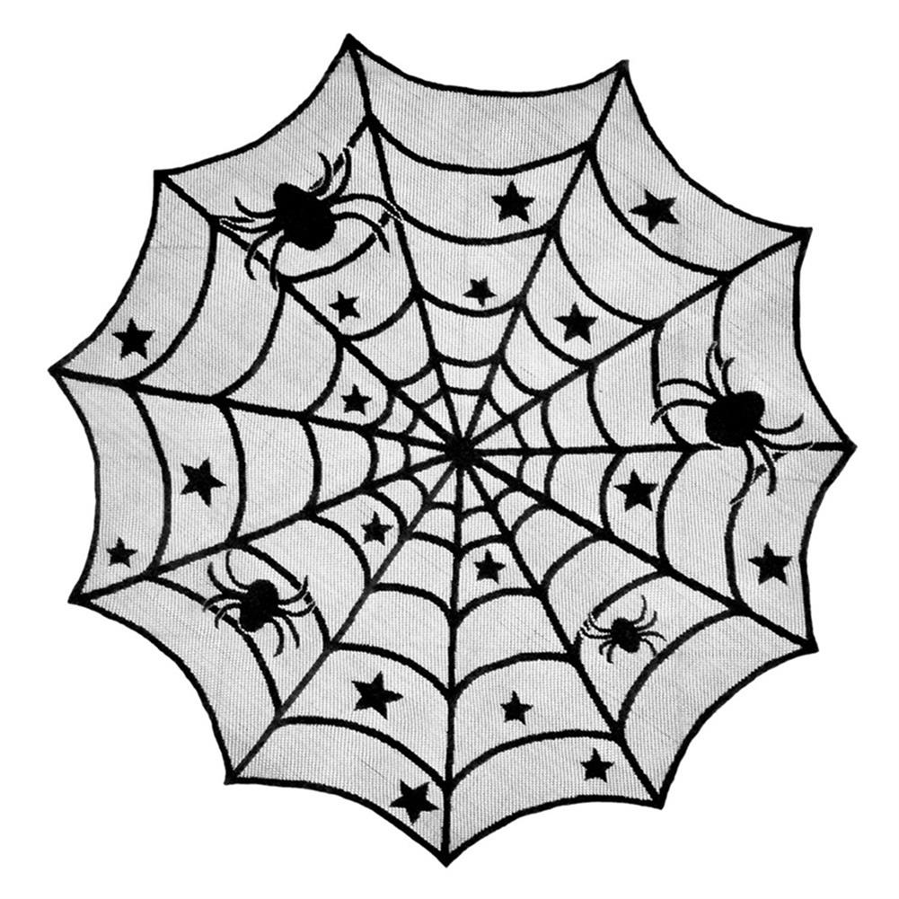 other-learning-office-supplies Halloween Ghost Festival Lace Table Cloth Curtain Black Spider Web Web Tablecloth Halloween Decoration Party Tablecloth HOB1751824 3 1