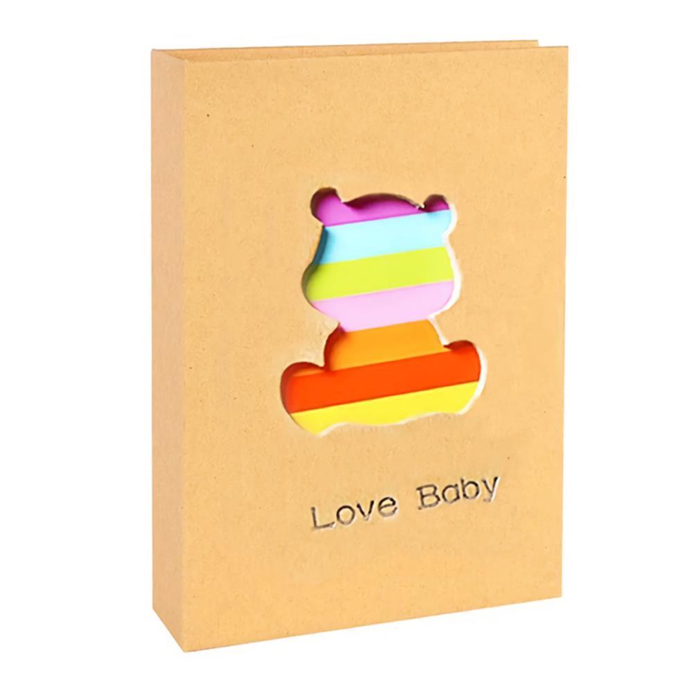 folder-file-pocket, filing 6 inch Cute Baby Photo Album 100 Sheets insert Page Album Kids DIY Anniversary Memory Album Book Album Photo HOB1751860 1 1
