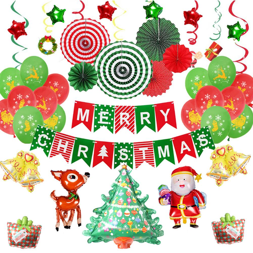 other-learning-office-supplies Merry Christmas Balloon Kit Santa Claus Christmas Decor Party Balloon Christmas Tree Decoration Home Supplies HOB1751965 1 1