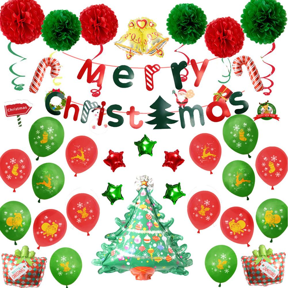 other-learning-office-supplies Merry Christmas Balloon Kit Santa Claus Christmas Decor Party Balloon Christmas Tree Decoration Home Supplies HOB1751965 2 1