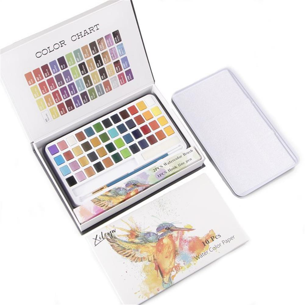 watercolor-paints 48 Colors Solid Watercolor Pigment Set Buy Solid Watercolor Paint Set Iron Box Drawing Set for Beginners Painting HOB1752829 1 1