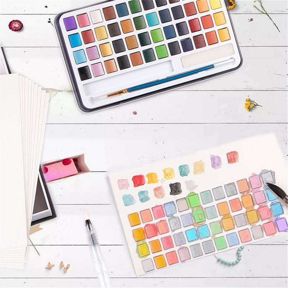 watercolor-paints 48 Colors Solid Watercolor Pigment Set Buy Solid Watercolor Paint Set Iron Box Drawing Set for Beginners Painting HOB1752829 3 1