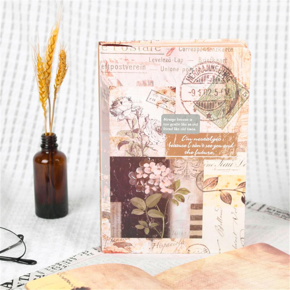 paper-notebooks A5 Retro Style Color Page Diary Personality Creative Illustration Kraft paper Notebook Old Stamp Style Diary Book HOB1752969 2 1
