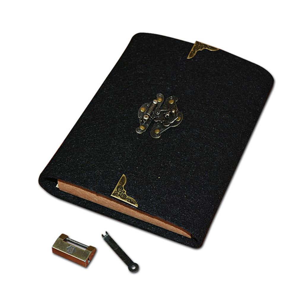 paper-notebooks Felt Soft Leather Travel Notebook with Lock Key Diary Notepad Kraft Paper for Business Sketching Writing Creative Gifts HOB1753033 1
