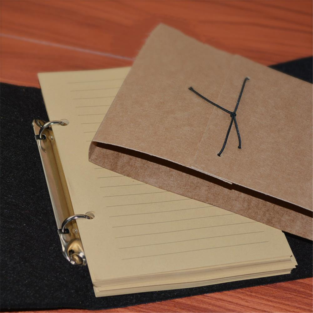 paper-notebooks Felt Soft Leather Travel Notebook with Lock Key Diary Notepad Kraft Paper for Business Sketching Writing Creative Gifts HOB1753033 1 1