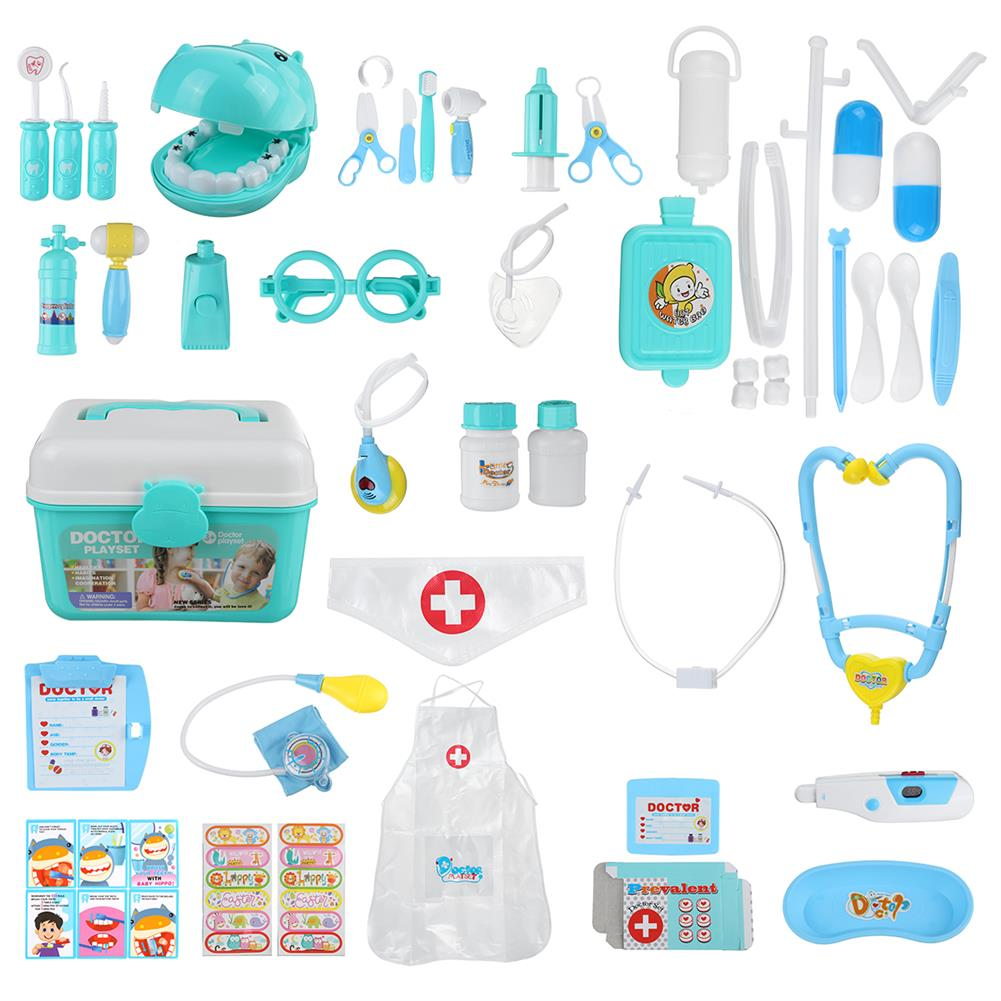 other-learning-office-supplies 44pcs Children Play House Doctor Toy Set Simulation Medical Kit injection Role Play Classic Toys for Children HOB1753088 1