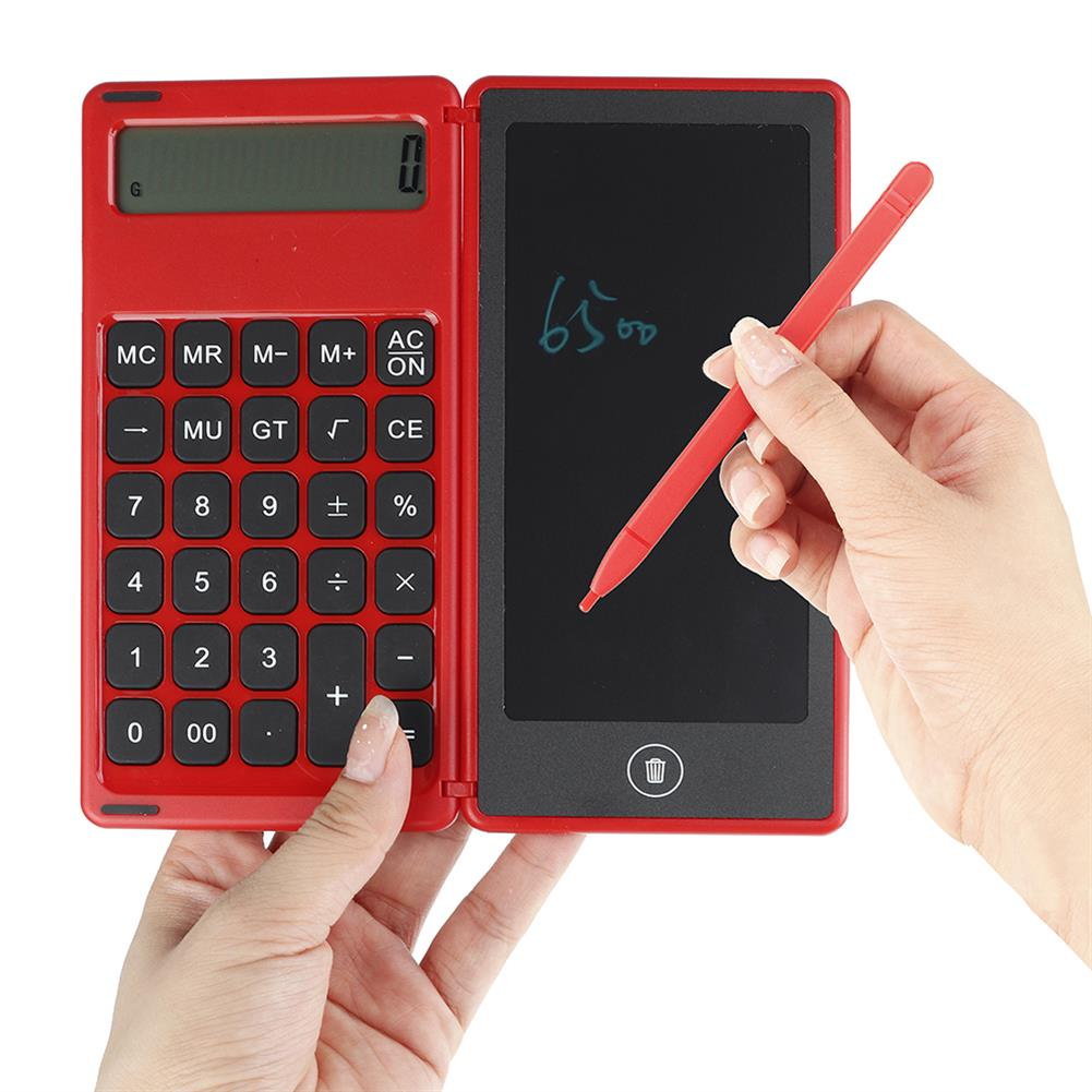 calculator Gideatech 12 Digits Display Desktop Calculator with 6 inch LCD Writing Tablet Foldable Repeated Writing Digital Drawing Pad with Stylus Pen Eraser Button Lock HOB1753165 3 1