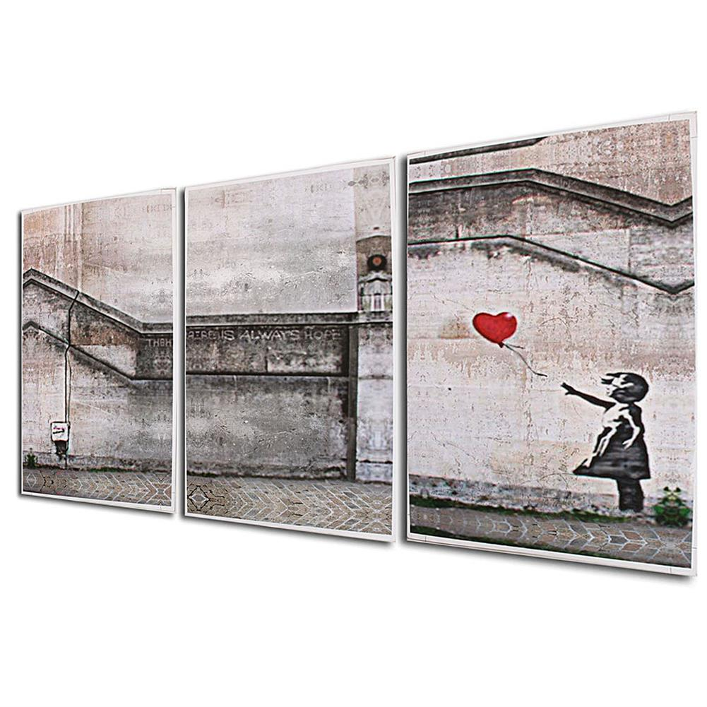 other-learning-office-supplies 3 Piece Large Black and White Decorative Painting Modern Sofa Background Wall Painting 40*60cm no Frame HOB1753701 1 1