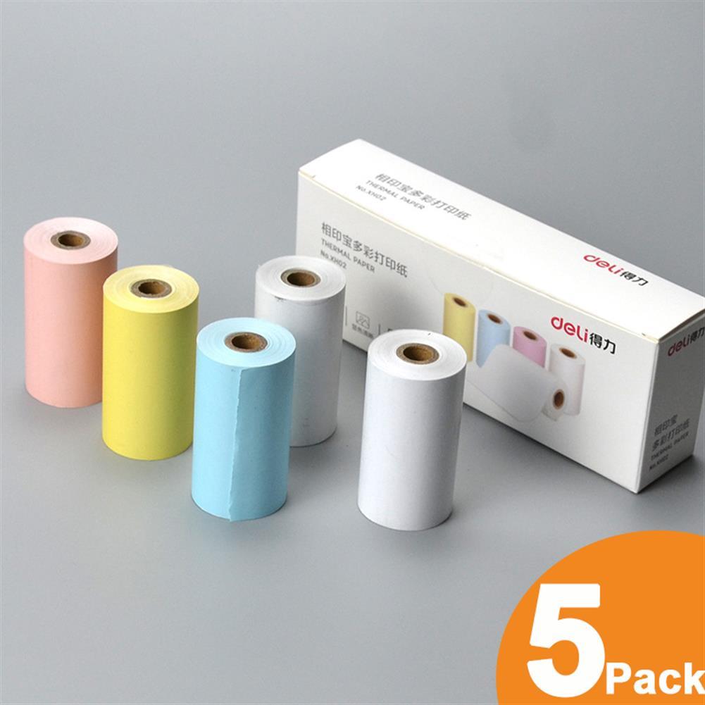 thermal-fax-paper 5 Rolls 57x30mm thermal Printer Papers for Paperang PeriPage thermal Printer HOB1753754 1 1