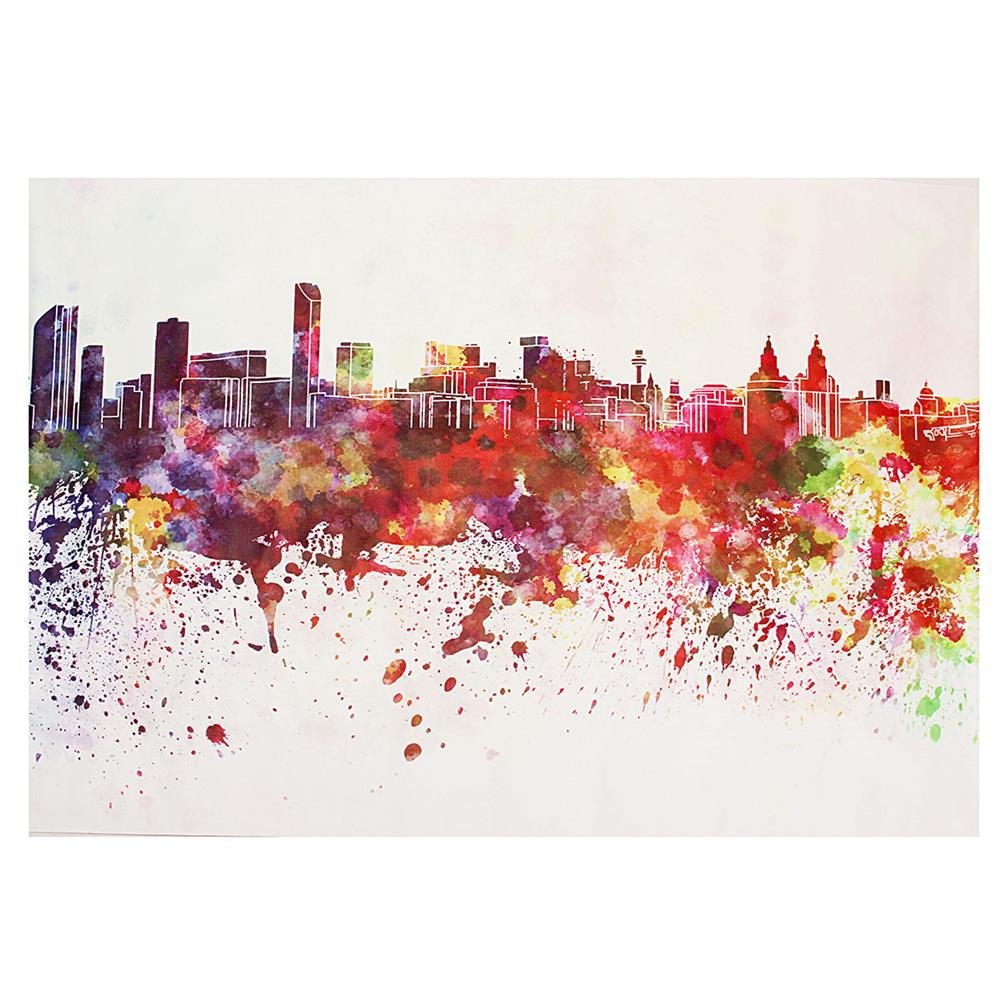 other-learning-office-supplies DIY Art Painting Color City Building Painting Canvas Decor Home Decoration Wall Pictures Living Room Wall Home Decor HOB1753798 1
