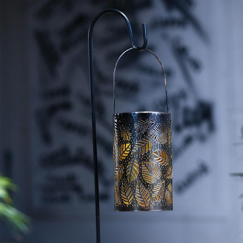 desktop-off-surface-shelves Hollow Maple Leaf Solar LED Lantern Light Outdoor Garden Yard Path Lawn Patio Hanging Decorative Lamp Desk Decoration HOB1753840 2 1