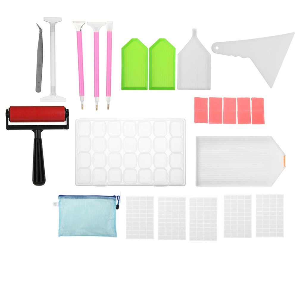 art-kit 28pcs DIY Diamond Painting Tools Kit 5D Embroidery Cross Stitch Diamond Tool Set Painting Accessories Supplies HOB1753855 1