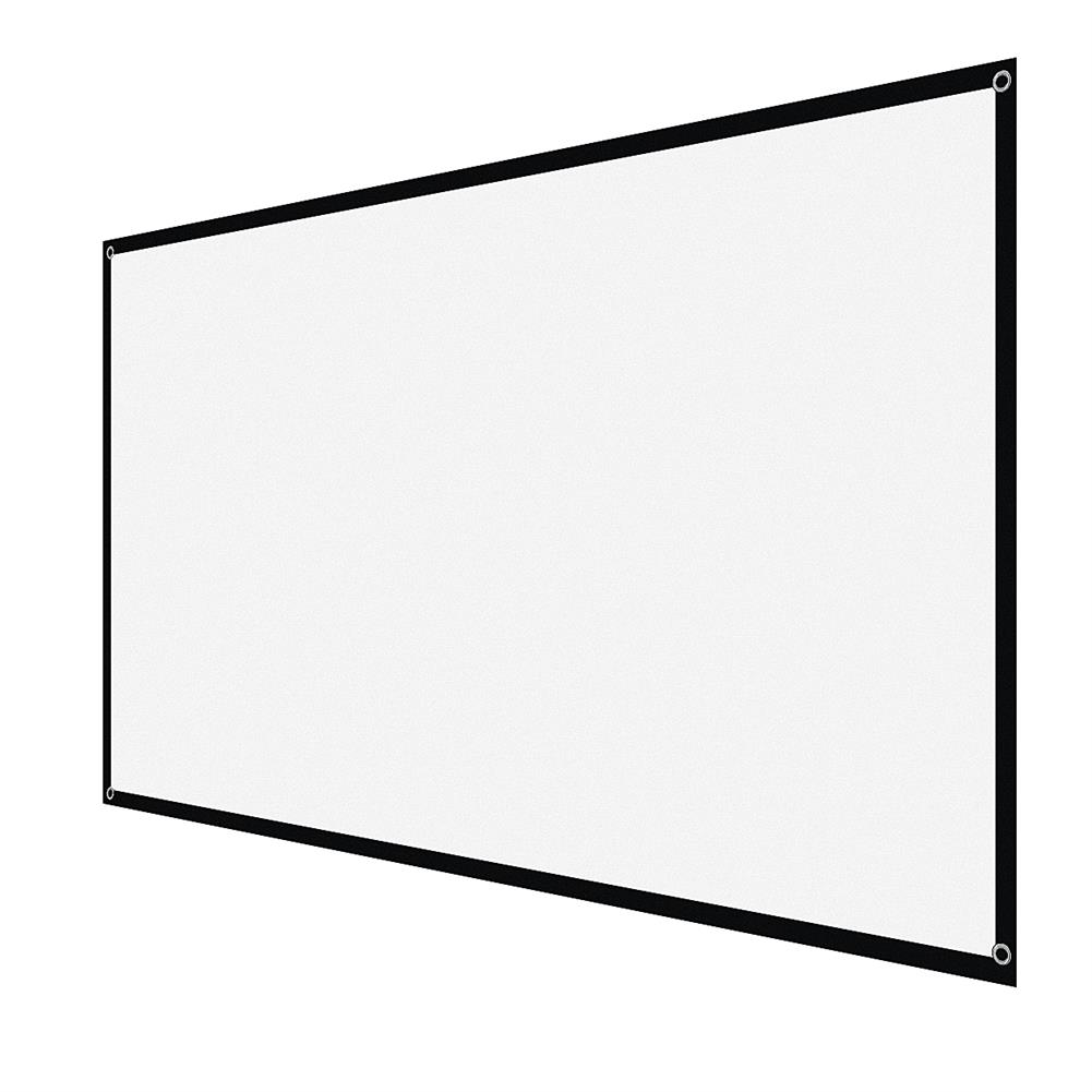 projector-screens 72-inch Projector Screen ]16:9 HD Foldable White Projection Wall Mounted Screen for Home office theater Movies indoors Outdoors HOB1754207 1 1