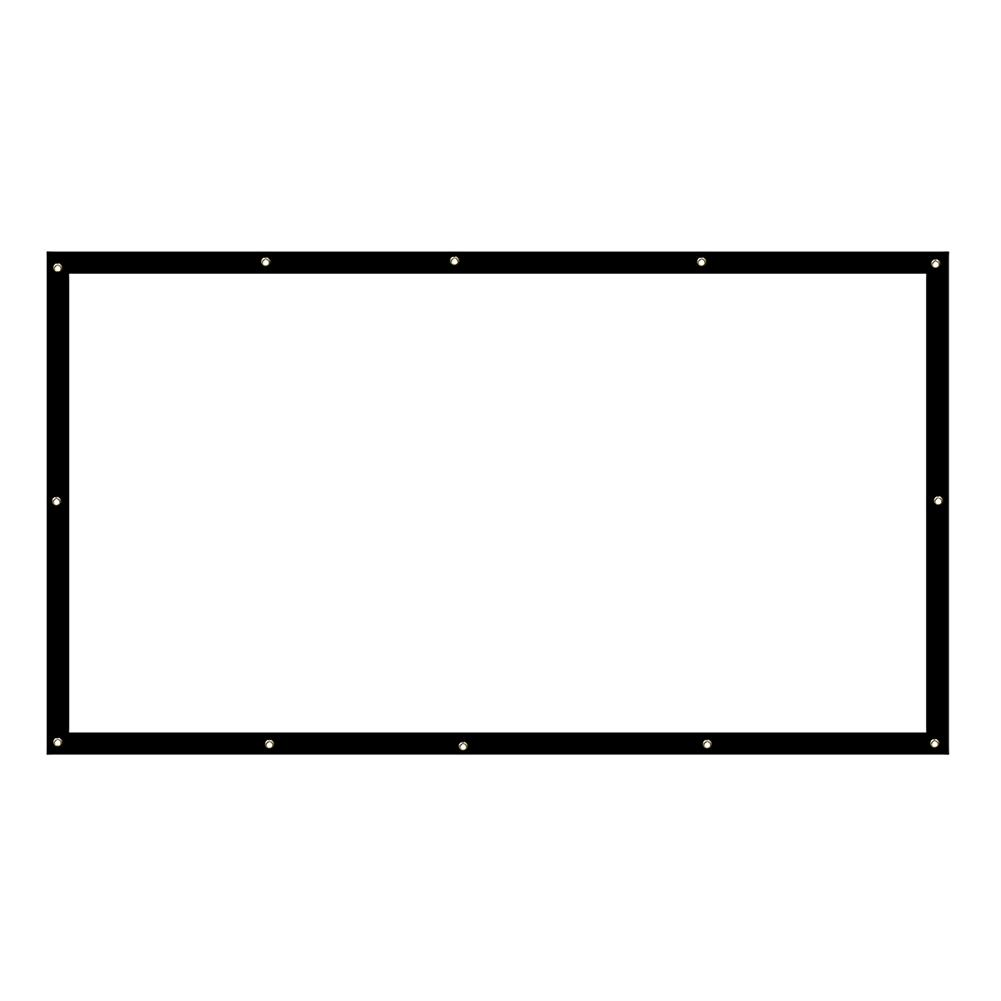 projector-screens 120-inch Projector Screen 16:9 HD Foldable PVC Anti-light Projection Wall Mounted Screen for Home office theater Movies indoors Outdoors HOB1754243 1