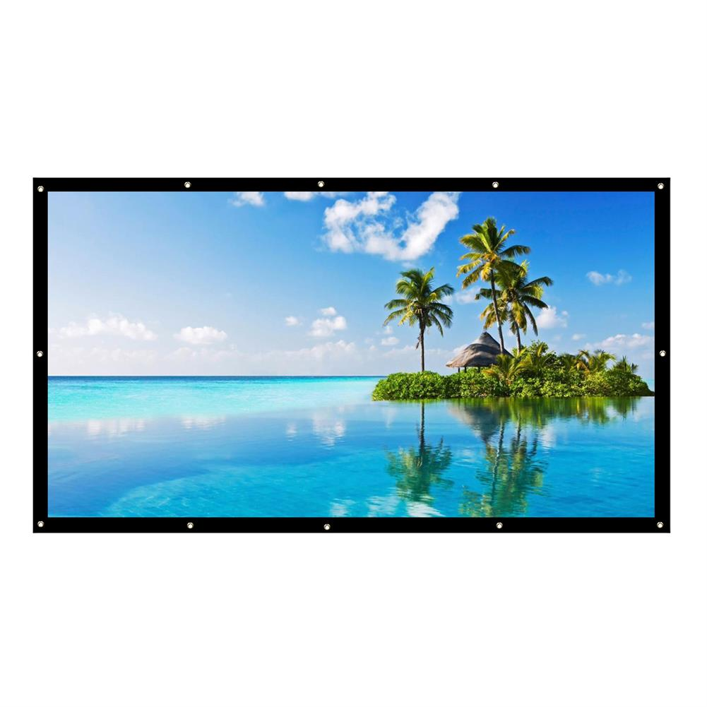 projector-screens 120-inch Projector Screen 16:9 HD Foldable PVC Anti-light Projection Wall Mounted Screen for Home office theater Movies indoors Outdoors HOB1754243 1 1