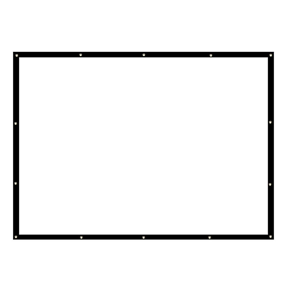 projector-screens 150-inch Projector Screen 16:9 HD Foldable PVC Anti-light Projection Wall Mounted Screen for Home office theater Movies indoors Outdoors HOB1754248 1