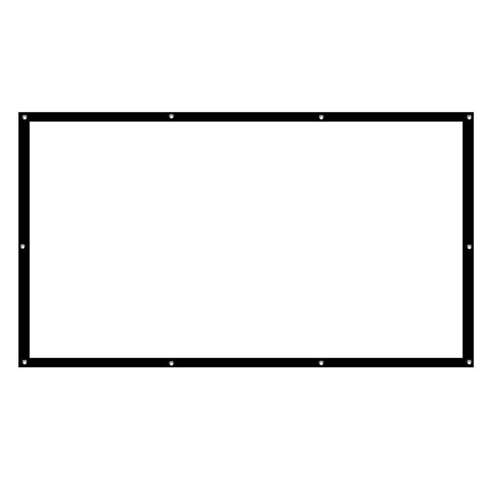 projector-screens 100-inch Projector Screen 16:9 / 4: 3 HD Foldable Anti-light Projection Wall Mounted Screen for Home office theater Movies indoors Outdoors HOB1754261 1