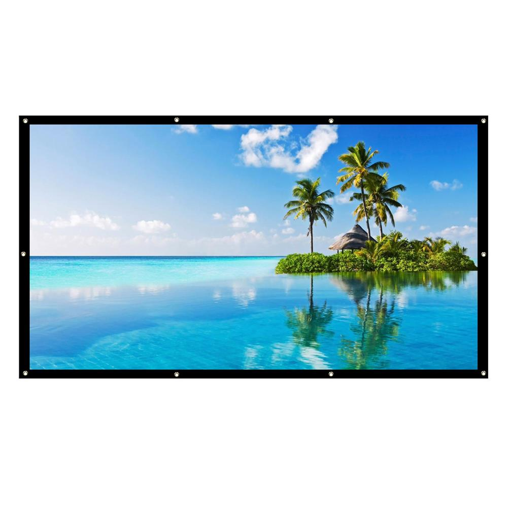 projector-screens 100-inch Projector Screen 16:9 / 4: 3 HD Foldable Anti-light Projection Wall Mounted Screen for Home office theater Movies indoors Outdoors HOB1754261 1 1