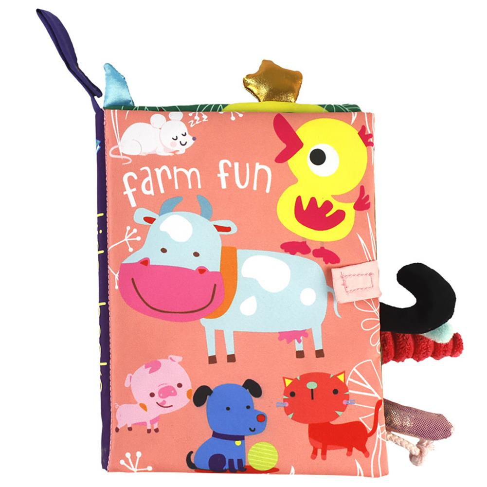 paper-notebooks Multifunctional Tail Cloth Book Educational Toy Book Tear-proof inner Sound Paper Cover Baby Enlightenment Learning Book HOB1754356 1