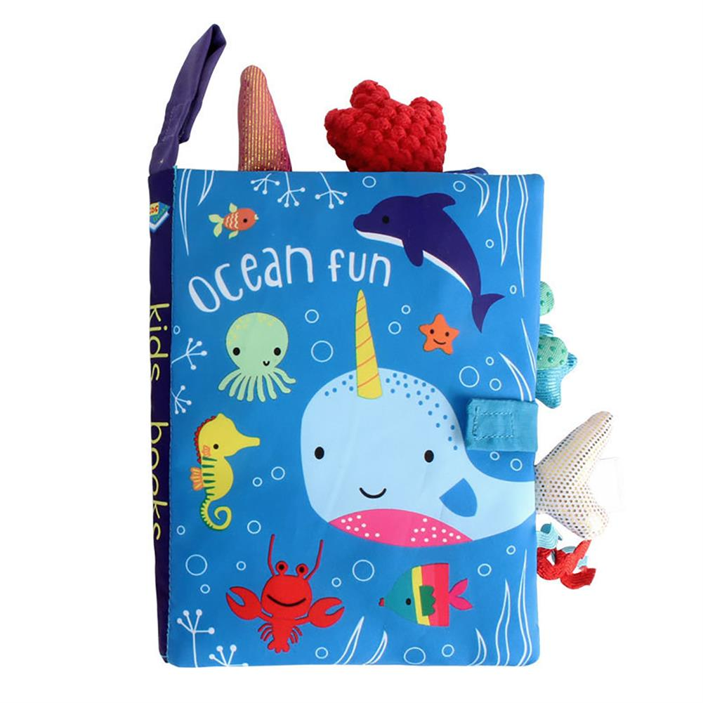 paper-notebooks Multifunctional Tail Cloth Book Educational Toy Book Tear-proof inner Sound Paper Cover Baby Enlightenment Learning Book HOB1754356 3 1
