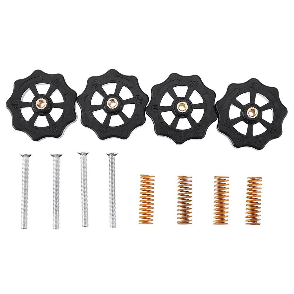 3d-printer-accessories 4PCS Hot Bed Leveling Nut + 4PCS Spring + 4PCS M4X30 Screws Kit Replacment Parts for Creality 3D Printer Ender 3 HOB1755106 1