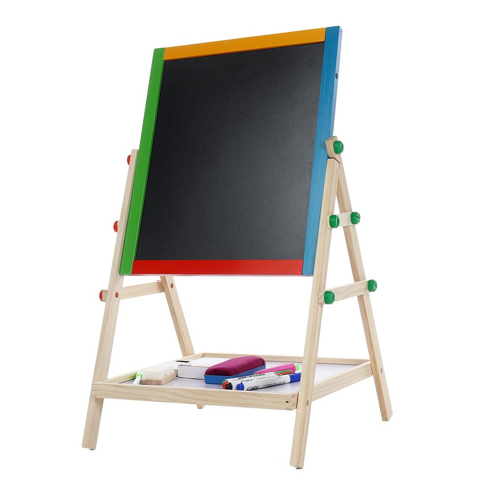 white-wipe-board Double-Sided Drawing Board Small Writing Blackboard Bracket Drawing Tablet Colored Childrens Drawing Board Easel HOB1755626 1
