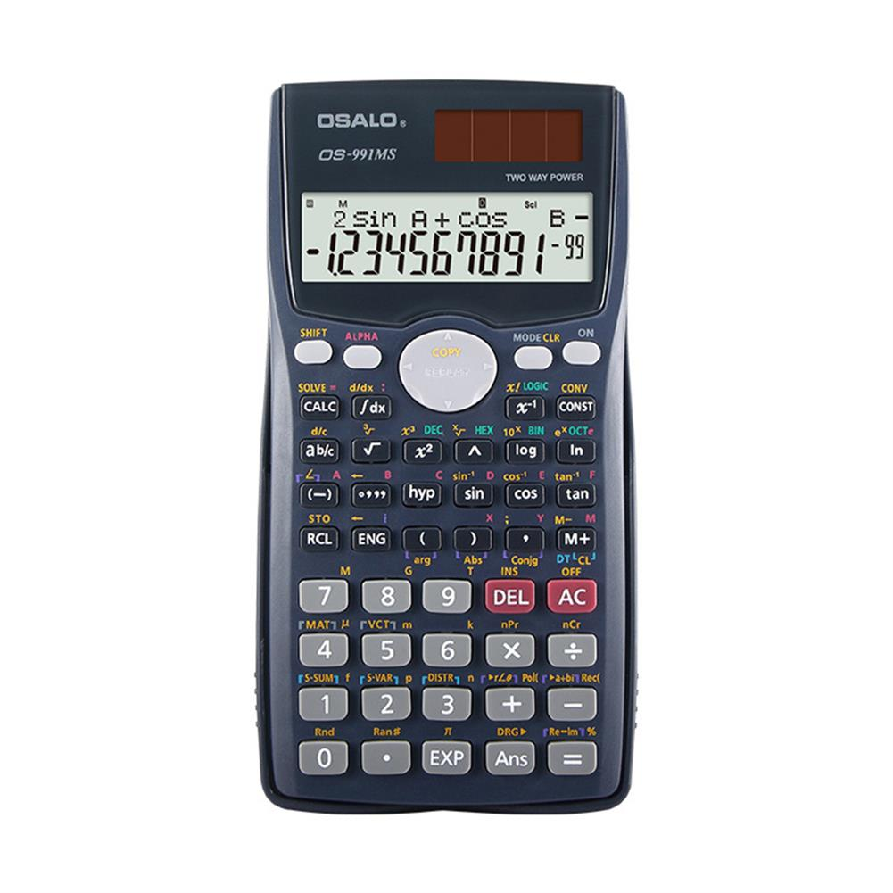 calculator OSALO OS-991MS Function Science Calculator Double Line Display Test Uses Equation Student Calculator for Students HOB1756796 1
