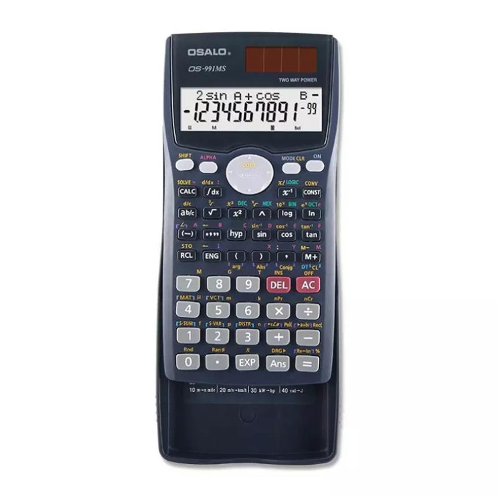calculator OSALO OS-991MS Function Science Calculator Double Line Display Test Uses Equation Student Calculator for Students HOB1756796 1 1