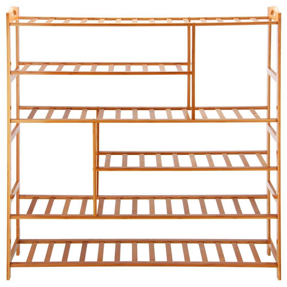 book-stands 6 Layers Shoe Rack Lockers Bamboo Shelf Cabinet Organizer Holder Bookself Shoes Storage Shelf HOB1756972 1