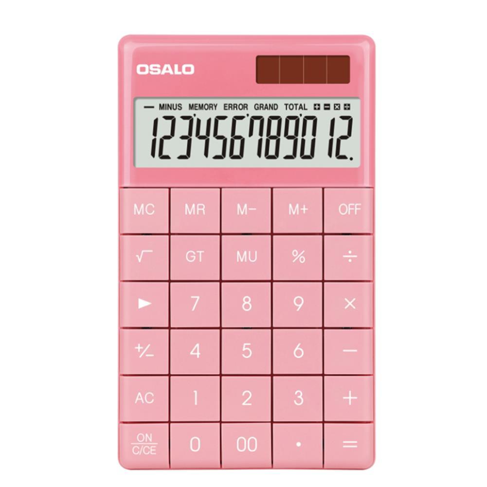 calculator OSALO A-1 12 Digit Tablet Buttons Calculator Dual Power Supply Calculator Portable School Students office Finance Supplies HOB1757058 1