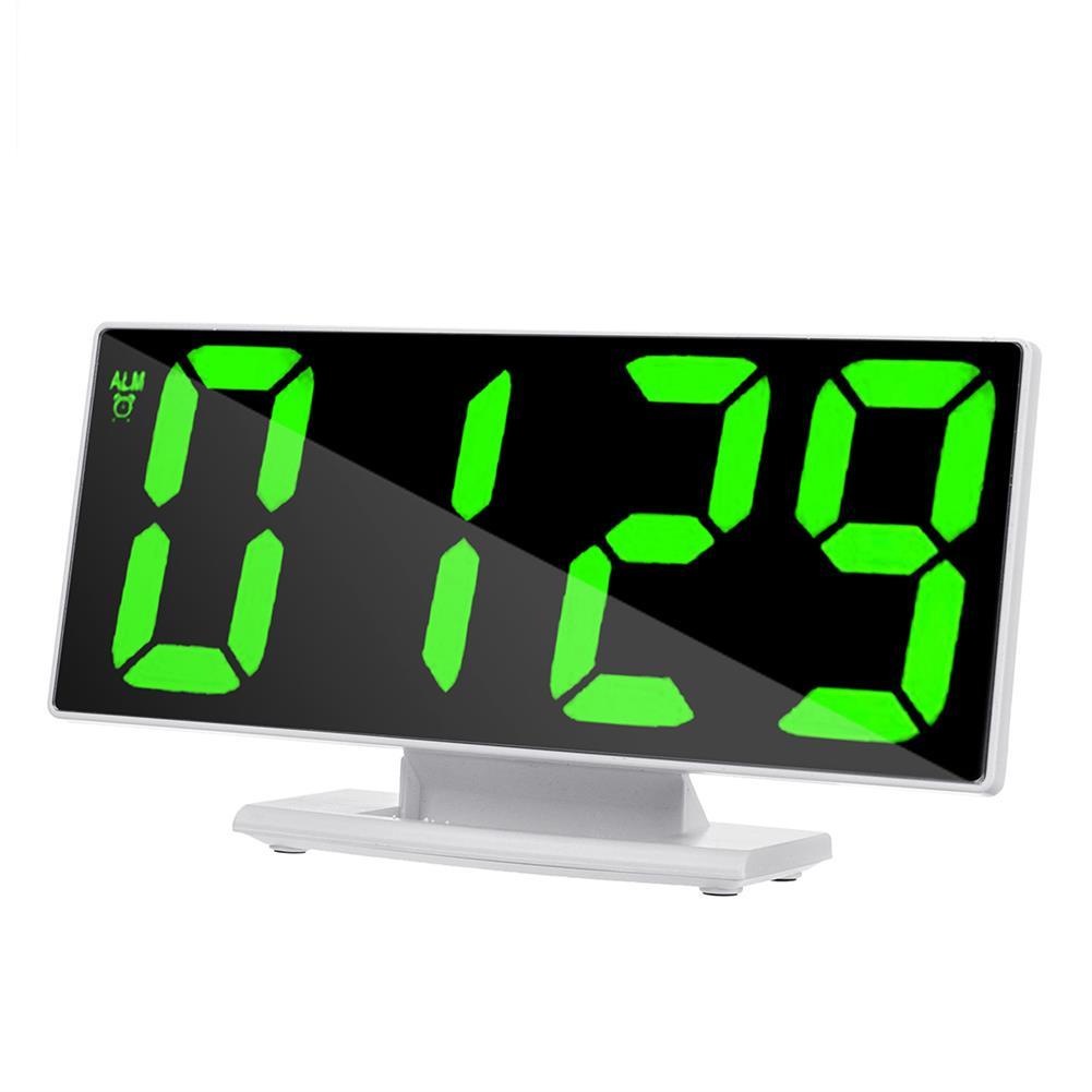 desktop-off-surface-shelves Mirror LED Alarm Clock Large Display Silence Night Lights thermometer Digital Electronic Clock Lamp for Bedside HOB1757104 1 1