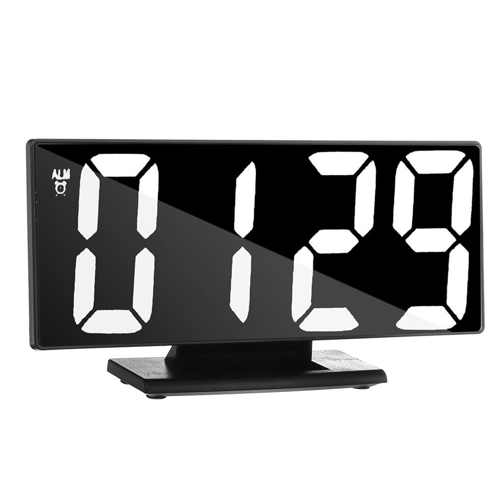 desktop-off-surface-shelves Mirror LED Alarm Clock Large Display Silence Night Lights thermometer Digital Electronic Clock Lamp for Bedside HOB1757104 2 1