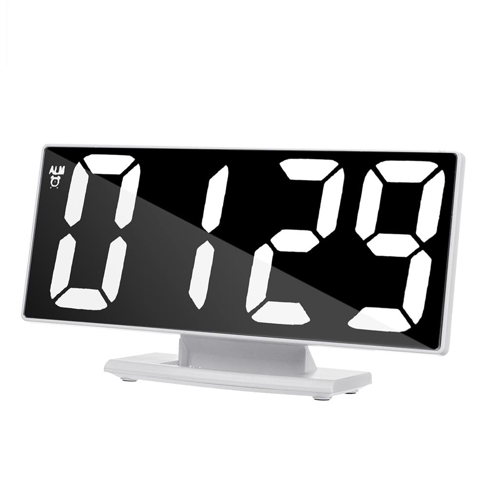 desktop-off-surface-shelves Mirror LED Alarm Clock Large Display Silence Night Lights thermometer Digital Electronic Clock Lamp for Bedside HOB1757104 3 1
