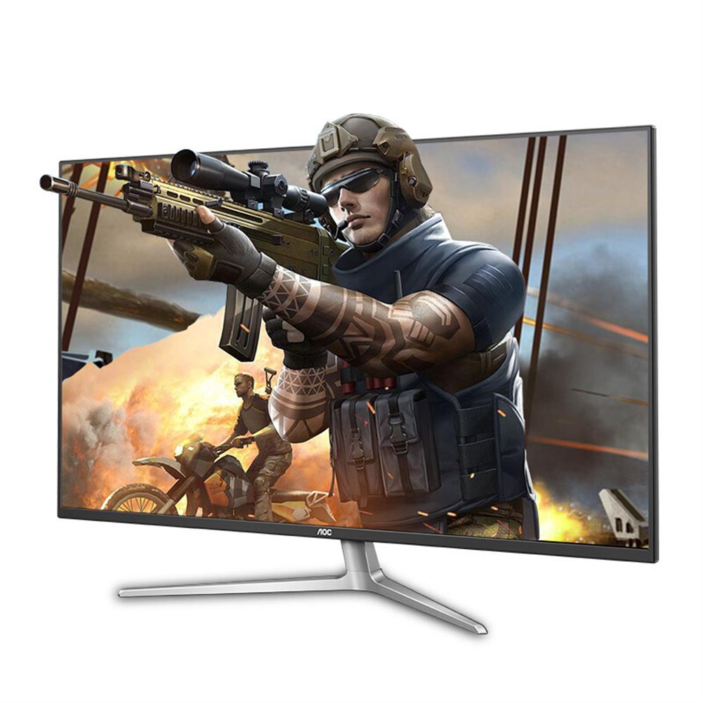 monitor AOC U4308V 43-inch 4K IPS Monitor 60Hz Gaming 178 Viewing Angle Free-Sync PBP Split Screen office Ultra Thin Frame Built-in Speakers Support with HDMI VGA DP HOB1757150 1