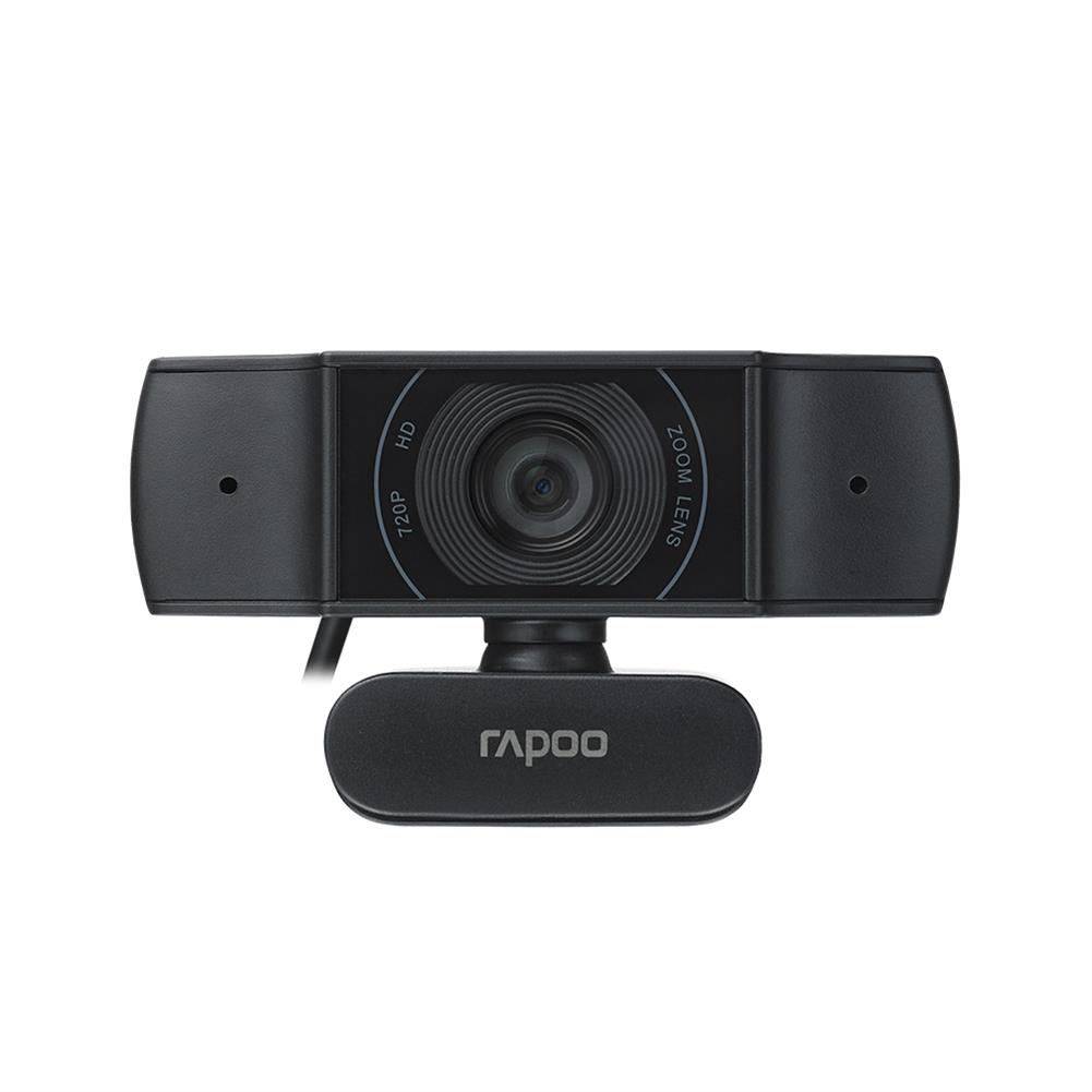 webcams Rapoo C200 Camera 720P Clip-on Desktop Computer Laptop Full HD 89 Wide-angle online Class Video Call Conference 360 Horizontal Rotation Lens HOB1757813 1
