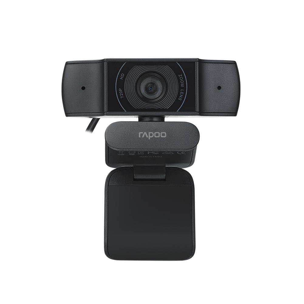 webcams Rapoo C200 Camera 720P Clip-on Desktop Computer Laptop Full HD 89 Wide-angle online Class Video Call Conference 360 Horizontal Rotation Lens HOB1757813 1 1