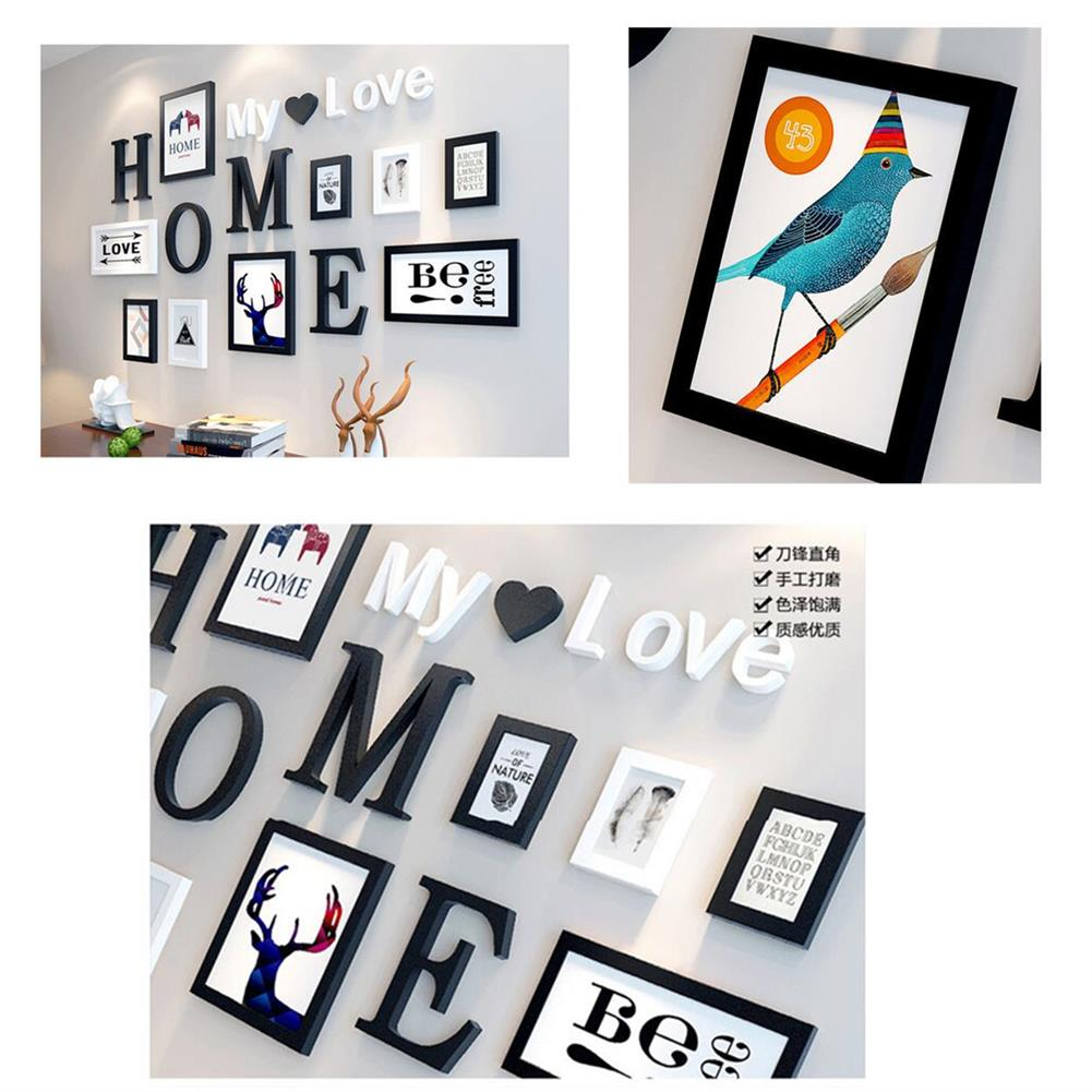 other-learning-office-supplies 9 pcs Black White Vintage Photo Frame Wall Hanging Wedding Family Wooden Picture for Paintings Creative Gifts Supplies HOB1757875 3 1