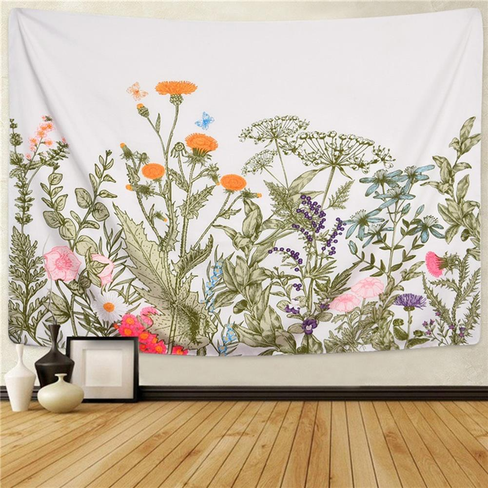 other-learning-office-supplies Floral Tapestry Wall Hanging Background Wall Cloth Fabric Decoration Living Room Bedroom office Tapestry HOB1759215 2 1