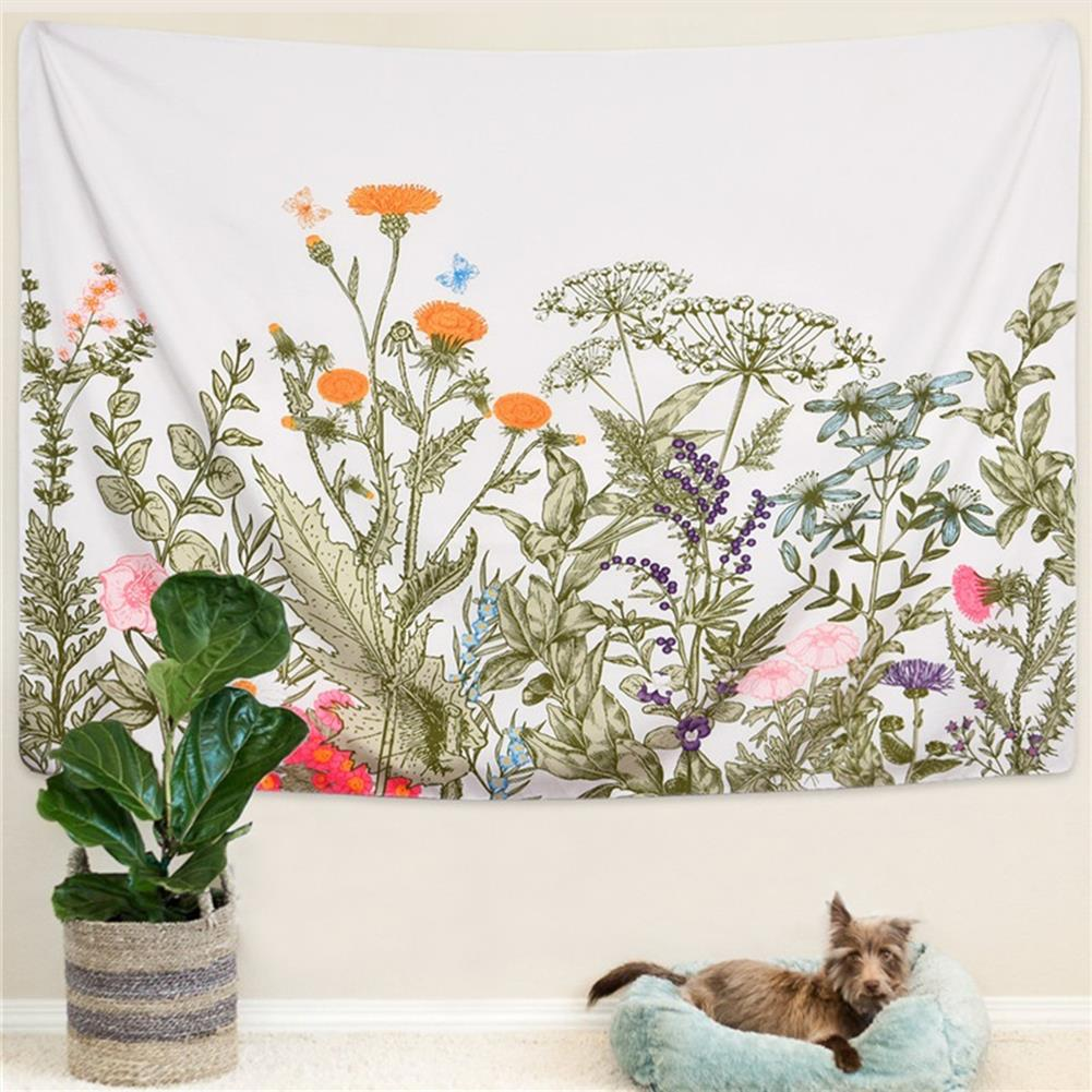 other-learning-office-supplies Floral Tapestry Wall Hanging Background Wall Cloth Fabric Decoration Living Room Bedroom office Tapestry HOB1759215 3 1