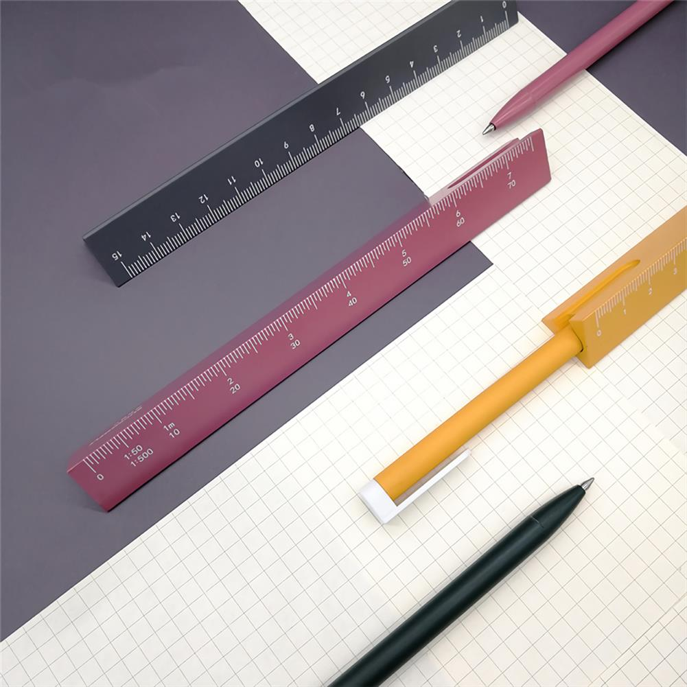 ruler Buckoofly RP-001 15cm Double Scale Pen Ruler Multifunctional Triangle Shape Drawing Rulers Students office Supplies HOB1759909 2 1