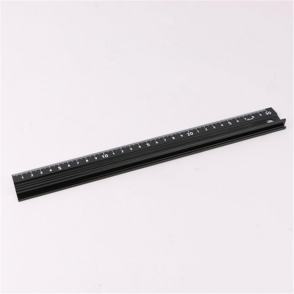 ruler 20/30/45cm Aluminum Alloy Protective Ruler Cutting Straight Scale Engineers Measuring Woodworking Cutting Tool HOB1760019 1 1