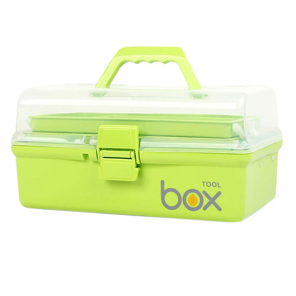 desktop-off-surface-shelves 3-Tier Medical Box Multifunction First Aid Kit Plastic Folding Medical Chest Organizer for Makeup Storage Box HOB1760052 3 1
