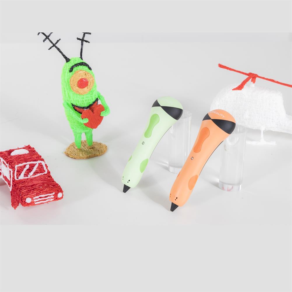 3d-printer-pen Creality 3D Pen-001 3D Pen Green/Orange/Blue 3D Printing Pen Suit PCL Filament for Kids Student Education HOB1760066 1