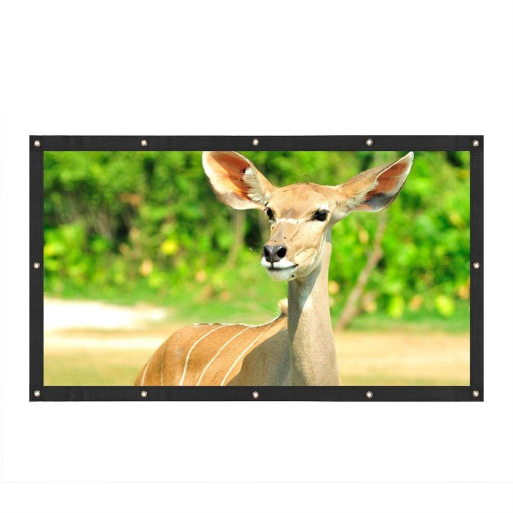 projectors-theaters 120 inch Projector Screen 16:9 Fold Projector Screen for Home Meeting Room School Restaurant Bar with 10 pcs Hook and Paste HOB1760087 1