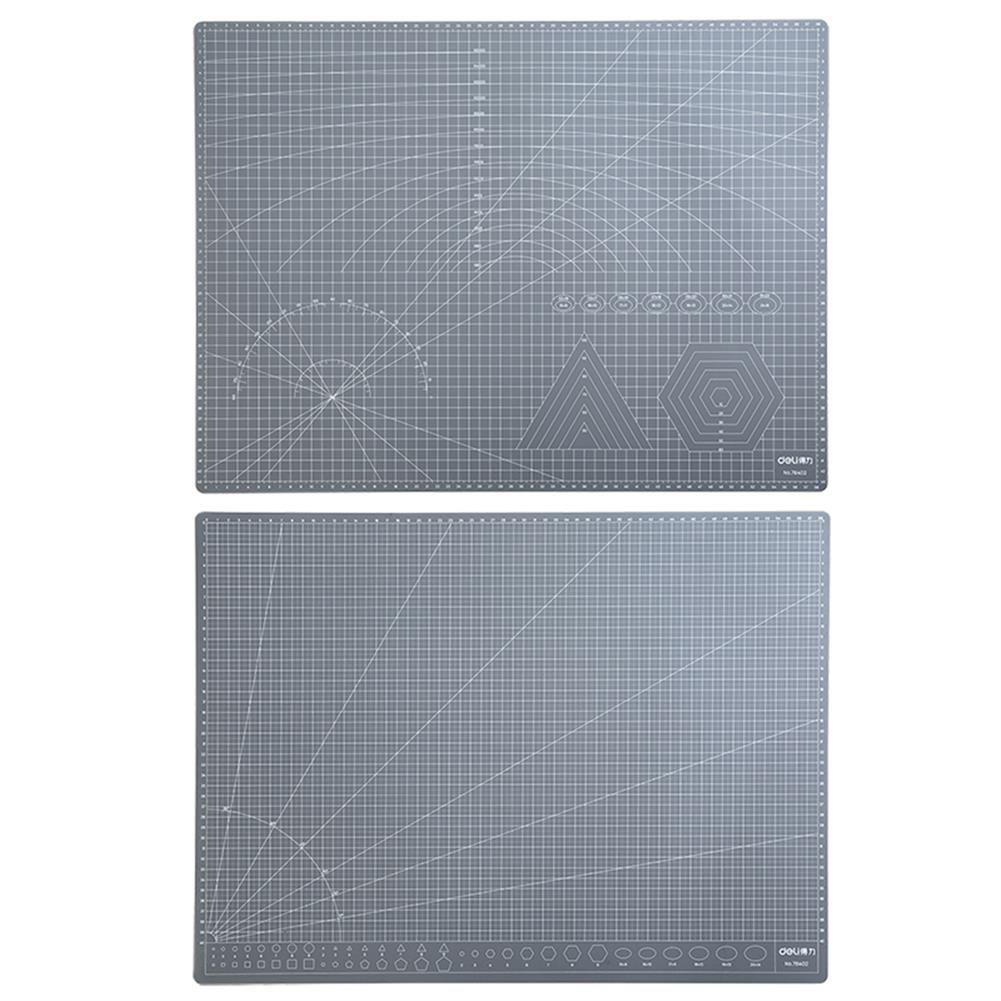 paper-cutter Deli 78402 A2 A3 Grey PVC Cutting Mat Paper Cutting Project Work Pad Board with Scale Handmade DIY Patchwork Tools HOB1760578 1